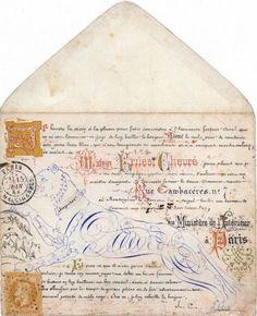 Drawing on envelope, 1868