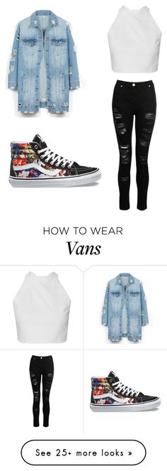 """""""cool"""" by sydneycampbell05 on Polyvore featuring LE3NO, Dorothy Perkins and Vans"""