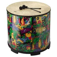 Remo Kid's Gathering Large Drum by Woodstock Percussion. $274.99. Constructed with pre-tuned heads and colorful drum shells.. This drum is large enough for 2 or more players.. Durable, colorful and fun for kids of all ages.. Use the included mallets, or drum away with your hands or drumsticks.. Made in the tradition of fine handcrafted ethnic instruments.. KG22B Features: -2 or more players.-Perfect for children, adults as well as group drum circles and gatherings.-Ages 5+...