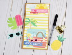 @jbckadams' fun Summer Traveler's Notebook will keep summertime memories bright. Featuring our Sunshiny Days collection, we say bring on the summer adventures!