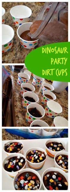 Dinosaur Dirt Cups!