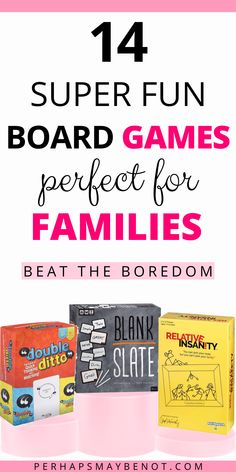 For a fun family night in, grab one of these exciting family games that will keep everyone entertained! #boardgames #familyboardgames  #familygames