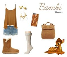 Bambi Disneybound by cassy-jayme-walbourne on Polyvore Disneybound, Bambi, Disney Characters, Casual, Polyvore, Inspiration, Image, Fashion, Road Trip To Disney