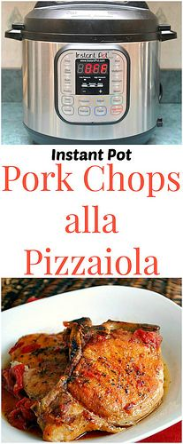Instant Pot Slow Cooker Pork Chops all Pizzaiola! Browned pork chops are cooked in a simple pan sauce of tomatoes, and seasoned with Herbs de Provence with a pinch of red pepper flakes. So amazing! | What's Cookin, Chicago?