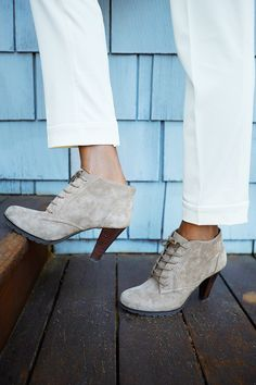 Show a little skin between your booties and pant hem. @marshalls