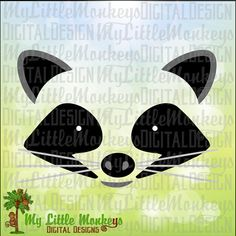 Raccoon SVG, Raccoon Face SVG, Woodland Animals, Kids svg, Raccoon Mask, Raccoon Shirt, Commercial Use SVG, Clip Art, Cut File, eps dxf png