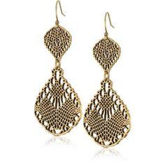 openwork metal earrings ~ for Lucky Brand