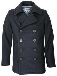 Schott NYC Mens 751 Slim Fit Wool Fashion Peacoat
