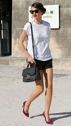 101 different ways to style a white t-shirt: Miranda Kerr