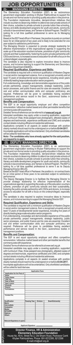Galiyat Development Authority Abbottabad Jobs Jobs In Pakistan