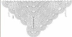 Beautiful Yarn crochet shawl. Wonderful model with tutorial and graphical step by step. - Crochet Pattern