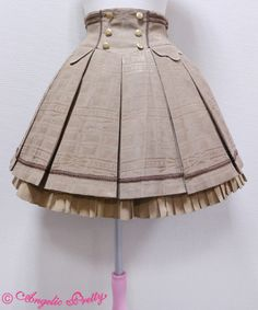 """Melty Ribbon Chocolate Skirt - Mocha"" I love this skirt I hope I can find it any of the darker colours! Kawaii Fashion, Lolita Fashion, Girl Fashion, Rock Fashion, Fashion Boots, Cute Dresses, Casual Dresses, Girls Dresses, Party Dresses"