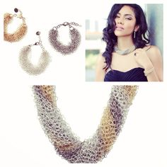 Make a statement with our Waterfalls Mesh Necklaces in Gold, Silver and Gunmetal.
