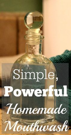 Homemade Mouthwash   Our Small Hours  Simple, 3-ingredient homemade mouthwash recipe!
