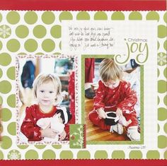 Christmas Joy Be Merry Christmas Scrapbook Layout Project Idea from Creative Memories. Limited edition products! by caroline
