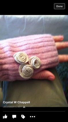 More fingerless gloves from felted sweaters!