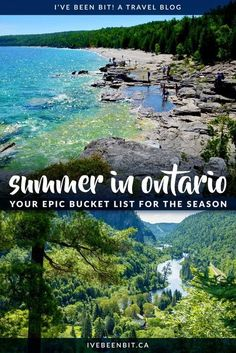 Summer time means getting outdoors and exploring! Unsure about where to go or what to do? This guide has all the top things to do in Ontario this summer. Take a look at this Ontario summer bucket list and plan some adventures! | #Travel #Canada #Ontario #Summer | IveBeenBit.ca Stuff To Do, Things To Do, Ontario Travel, Summer Bucket Lists, Get Outdoors, The Province, Amazing Adventures, Summer Travel, Canada Ontario