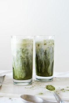 Iced Matcha Milk Tea Latte by noodoso #Matcha #Milk