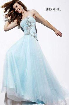 Sky blue long - Sherri Hill dress.