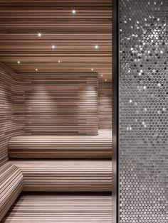 56 Leonard 'Jenga Tower' in New York by Herzog & de Meuron -.- 56 Leonard 'Jenga Tower' in New York by Herzog & de Meuron – bynnz 56 Leonard 'Jenga Tower' in New York by Herzog & de Meuron – bynnz - Sauna Steam Room, Sauna Room, Home Steam Room, Spa Design, Design Ideas, Design Projects, Saunas, Luxury Master Bathrooms, Amazing Bathrooms