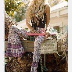 Bohemian Gypsy Bell Bottom Pant