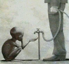 When a picture becomes a million words due to that lack of compassion and everything good in the hearts of society