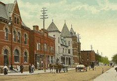 PETROLIA Ontario Vintage Postcard Post Office by TheOldBarnDoor