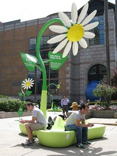 Solar Flowers by Patrick Shearn (CSS '80, Arts Hall of Fame Honoree), A Mobile Art Installation That Provides Free Power & WiFi