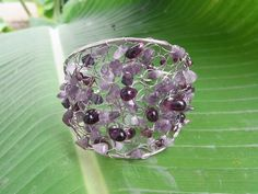 The beautiful Amethyst Bracelet Handmade Adjustable by thaibeauty, $5.99