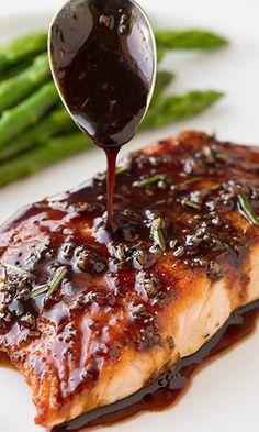 Easy Balsamic Glazed Salmon | Recipe Knead
