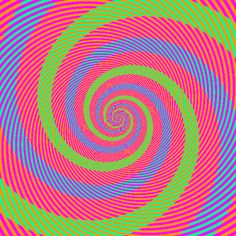 The Spirals Appearing Blue And Green Are Actually The Same Colour - 10 Optical Illusions That Will Blow Your Mind