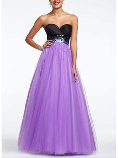 Beaded waist prom dress