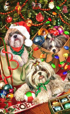 Shih Tzu - Tree Trimmers - by Margaret Sweeney