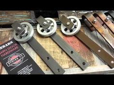 building an AWESOME barn door hardware kit! - YouTube