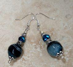 Genuine Black/Blue Agate Crystal Antique by IslandGirl77 on Etsy, $18.99