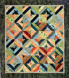 Hoffman Fabrics Green Tea quilt