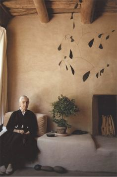 bensozia: Georgia O'Keeffe's House at Abiquiu #always been intrigued by this woman, a minimalist way before her time
