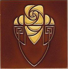 Items similar to - Gloss Ceramic Tile - Vintage Art Nouveau Reproduction Tile - Various Sizes on Etsy Fleurs Art Nouveau, Motifs Art Nouveau, Azulejos Art Nouveau, Design Art Nouveau, Motif Art Deco, Art Nouveau Pattern, Jugendstil Design, Art Nouveau Tiles, Art Vintage