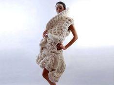Wearable Crochet Art - The Johan Ku 'Emotional Sculptures' Line is a Chunky Knit Fashion Statement (GALLERY)