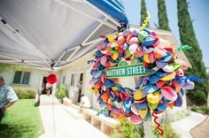 Sesame Street themed 1st birthday party via Kara's Party Ideas KarasPartyIdeas.com Invitation, cake, food, supplies, recipes, and MORE! #sesamestreet #sesamestreetparty (52)