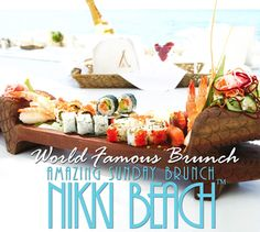 Every Sunday at Nikki Beach Miami from 11:00am-4:00pm