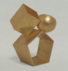 """ring """"Cubi"""" 1996  gold 750 / Giorgio Cecchetto"""