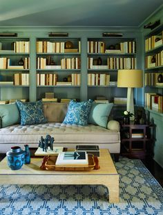 part III of the Top Twenty Interior Designers I Would Hire - laurel home | fabulous library and interior design by Steven Gambrel