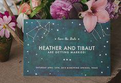 Astrological Wedding Save the Date | The Nouveau Romantics | Photo credit The Nichols