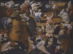 Mistrz płodności Egg - koncert zwierzęta, ptaki i liczby stylizowane, koniec 17 - początku 18 wieku