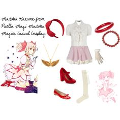 http://www.polyvore.com/madoka_kaname_from_puella_magi/set?id=49757290 Madoka Kaname from Puella Magi Madoka Magica Casual Cosplay