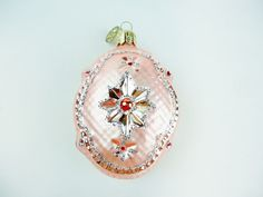 Retired Christopher Radko Oval Pink Snowflake by GranvilleGallery