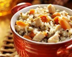 Riz minceur au poulet et carottes à la sauce soja