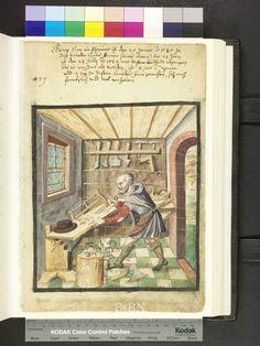 Amb. 317b.2° Folio 50 recto. Joiners in the Mendel Hausbuch: Karl Schreyner (c. 1425), Peter Sreiner (1444), Paulus Weydmann (1542), Georg Han (1589). Datierung: 1589. Varmt! 2014-08-16.