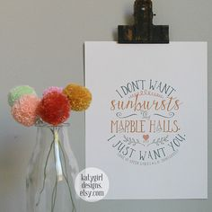 Sunbursts & Marble Halls - Anne of Green Gables Quote - 8x10 print